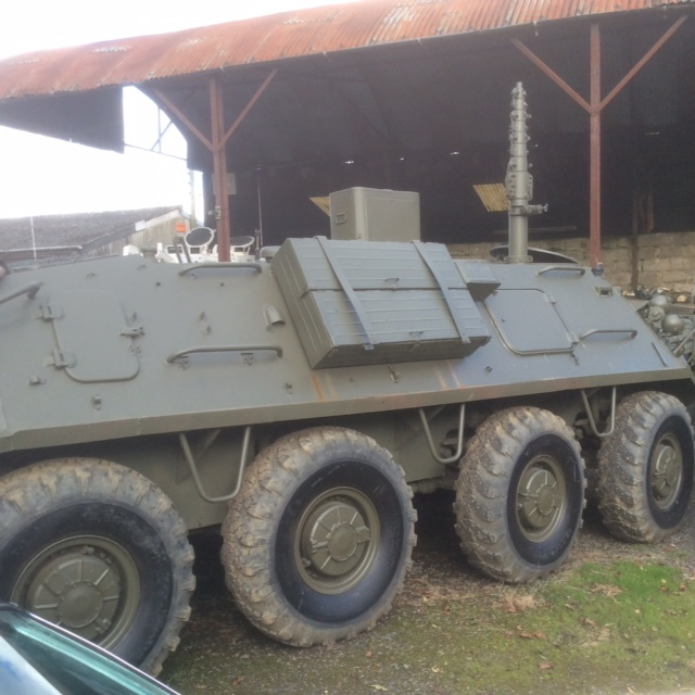 russian 8x8 wheeled btr 60 communications vehicle for sale uk