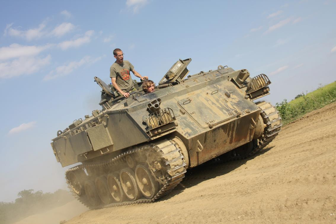 Private Tank Car Crush Driving Experience FV432