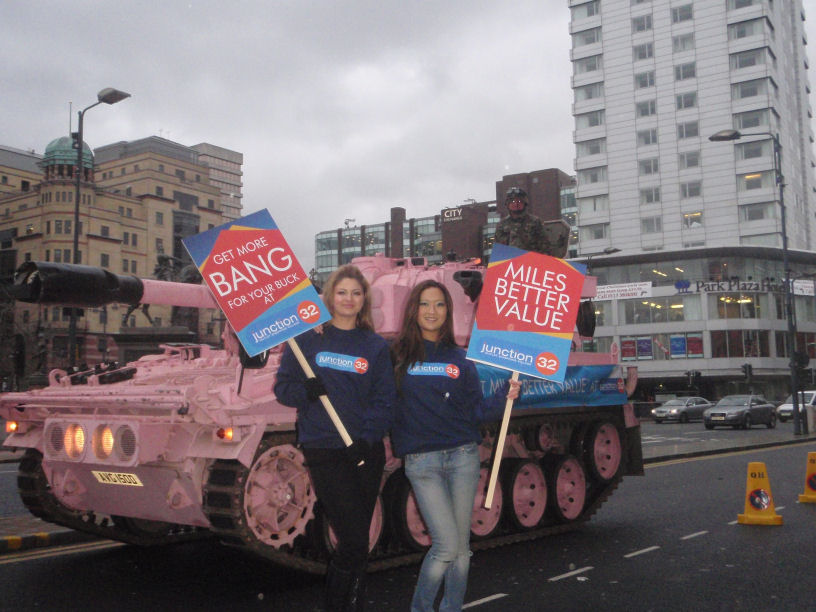 Promotional Tank Hire - Our Famous Pink Tank