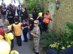 Tank Limo Drives Anti-Fracking Campagners too David Cameron House