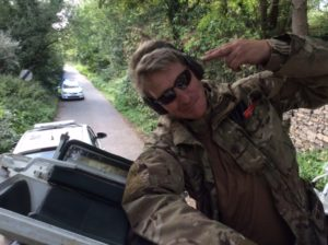 Tank Limo Drives Anti-Fracking Campagners too David Cameron House