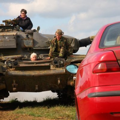VIP Private Tank Car Crush Driving Experience Tank Crushes Car