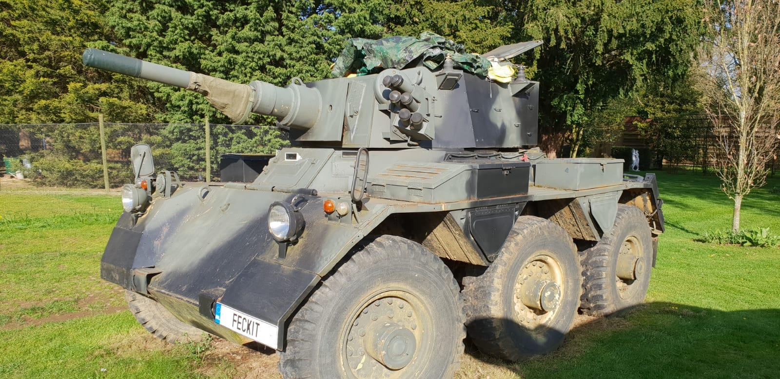 Alvis Saladin with Deactivated 76mm Gun   Tanks-Alot