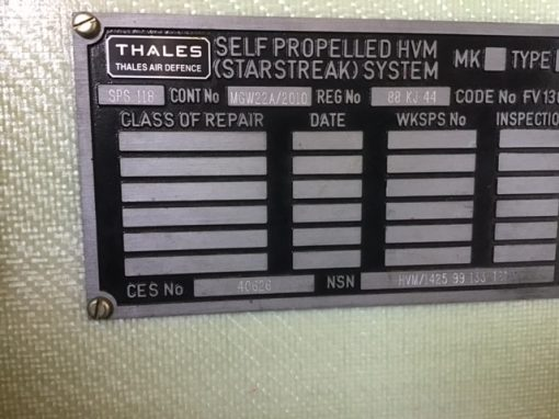 Stormer RHZ6073 with Starstreak